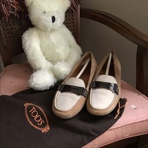 Tods Suede Driving Loafer